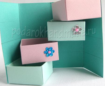 Как сделать подарочную коробку из картона своими
