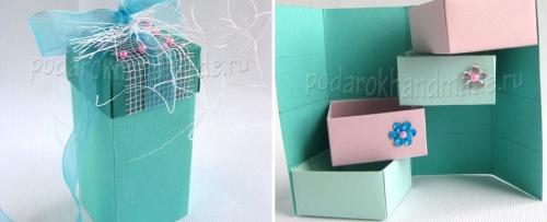 Многоярусная подарочная упаковка своими руками