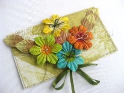 Как сделать оригами конверт из бумаги.