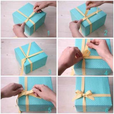 Упаковка для подарка своими руками бант