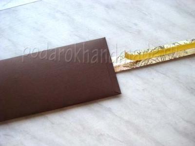 Как сделать подарочный конверт