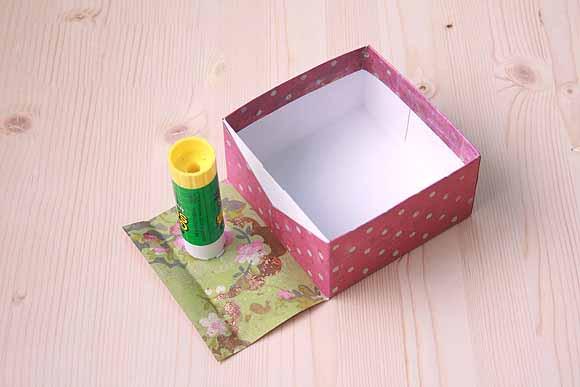Как обклеить коробку бумагой