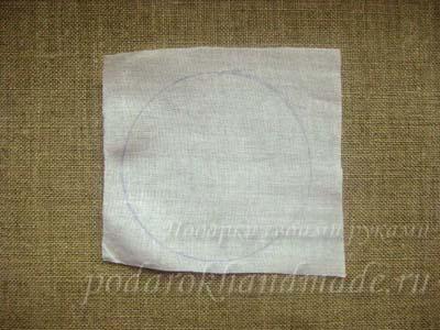 Заколки из ткани
