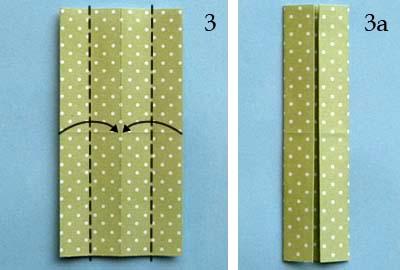 Платье оригами: шаг 3