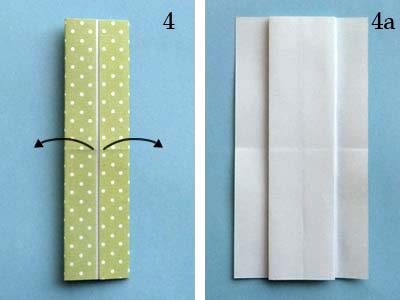 Платье оригами: шаг 4