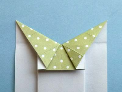 Открытки с элементами оригами - платье для леди