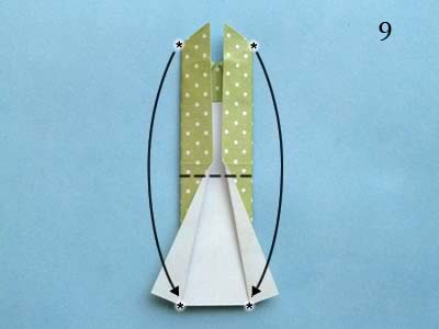 Платье оригами: шаг 9
