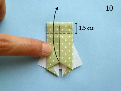 Платье оригами: шаг 10