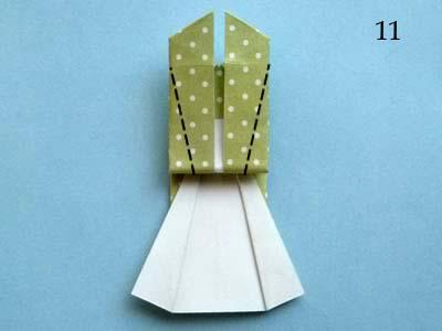 Платье оригами: шаг 11