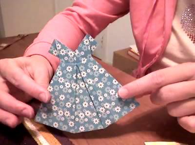 Как сложить платье оригами: видео от Noorinaya