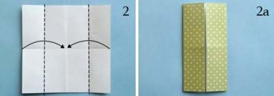 Платье оригами: шаг 2