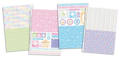 Шаблоны для печати бумаги Sweet Baby Love