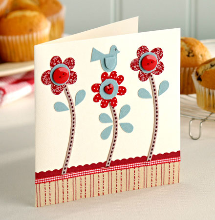 Цветы для мамы открытка своими руками