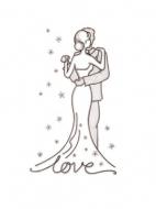Шаблон открытки на свадьбу: образец 2