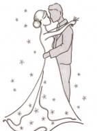 Шаблон открытки на свадьбу: образец 1