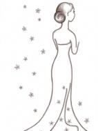 Шаблон открытки на свадьбу: образец 3