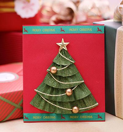 Простые открытки своими руками на Новый год