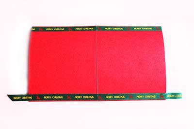 Как сделать простую новогоднюю открытку - шаг второй