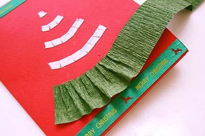 Как сделать простую новогоднюю открытку - шаг пятый