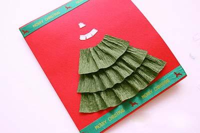 Как сделать простую новогоднюю открытку - шаг шестой