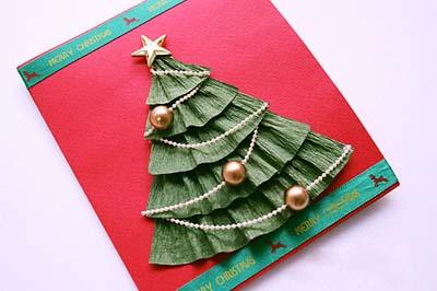 Как сделать простую новогоднюю открытку - шаг девятый