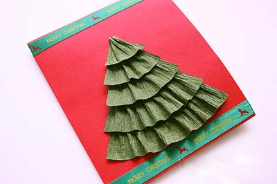 Как сделать простую новогоднюю открытку - шаг седьмой