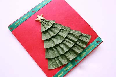 Как сделать простую новогоднюю открытку - шаг восьмой