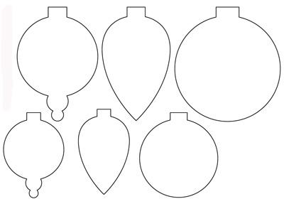 Новогодние украшения из бумаги - скачать шаблон бесплатно