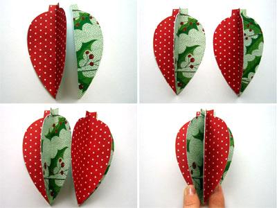 Новогодние украшения из бумаги - склеиваем 4 детали между собой