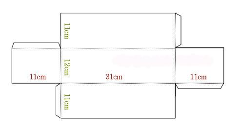 Схема коробки для новогодних