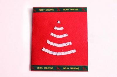Как сделать простую новогоднюю открытку - шаг третий