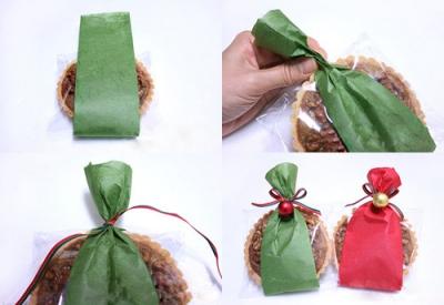 Новогодние сладости - упаковываем в бумагу