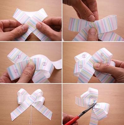 Как сделать подарочный бант своими руками пошаговое фото