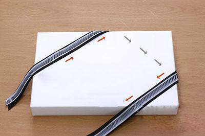 Как завязать ленту на подарочной коробке. Часть 2