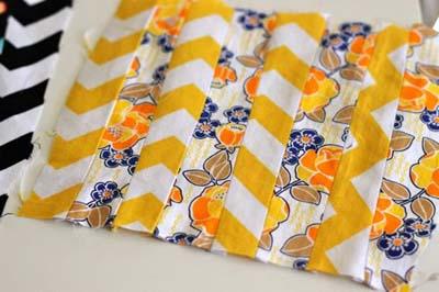 Как сшить прихватку - сшиваем лоскутки между собой