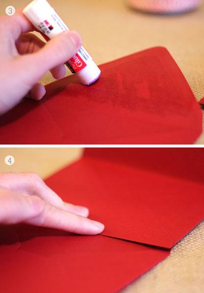 Как сделать любовные купоны - склеиваем конверты гормошкой