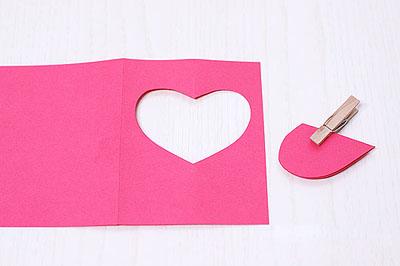 Простая открытка-валентинка своими руками