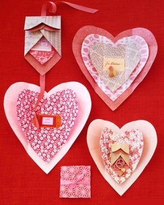 Оригинальные валентинки из бумаги от Martha Stewart