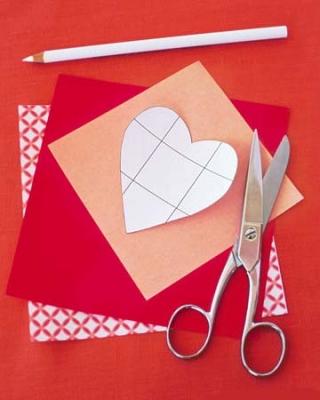 Как сделать валентинки из бумаги - шаг 1