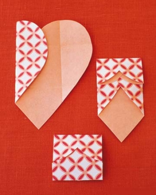 Как сделать валентинки из бумаги - шаг 3