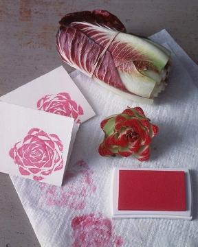 Креативные открытки - используем оттиски от овощей