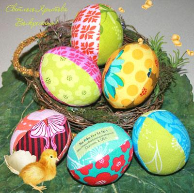 Пасхальные яйца из ткани своими руками мастер-класс