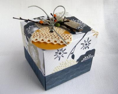 Подарочная хлебница во технике оригами