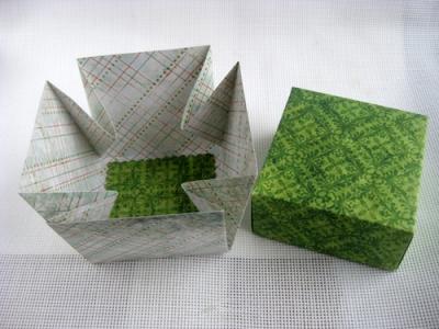 Подарочная хлебница на технике оригами