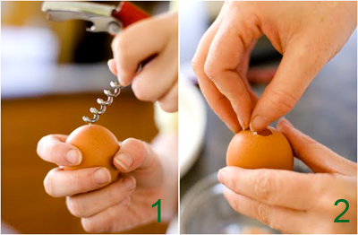 Пасхальные кексы в яичной скорлупе