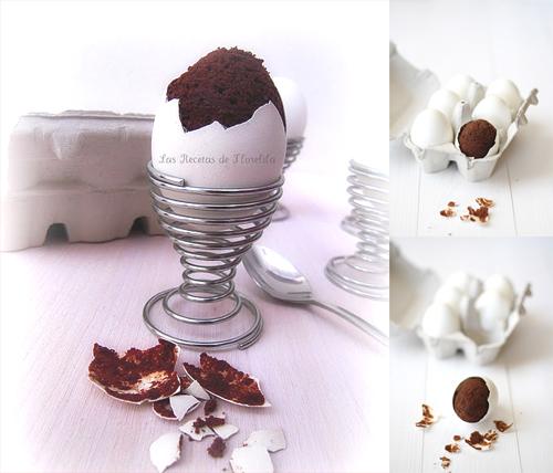 Шоколадные кексы, запеченные в яичной скорлупе
