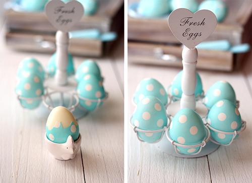 Пасхальные яйца в горошек