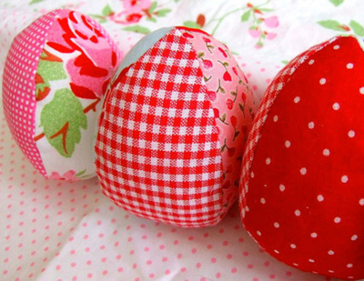 Как сделать яйцо из ткани своими руками