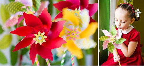 Детский флюгер-цветок из бумаги своими руками от журнала Keepsakes