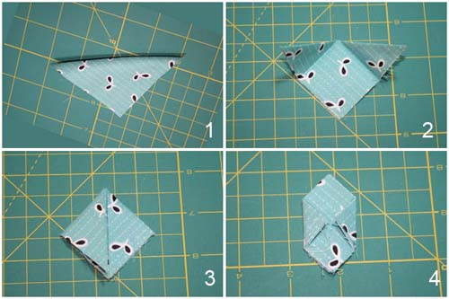 Как сделать круглый лепесток канзаши - вырезаем квадраты и складываем